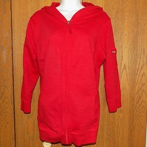 Fall Style&Co Hoodie Jacket XL Red EUC
